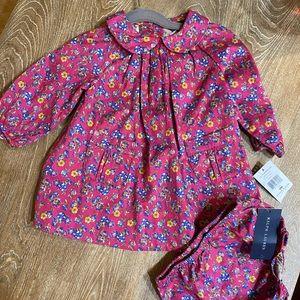 NWT Ralph Lauren pink floral dress bloomer set 9 M